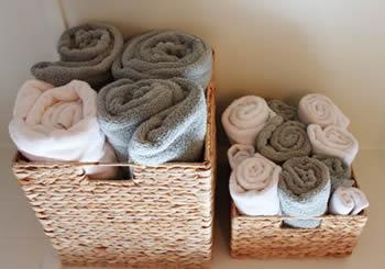 Cesto de toalhas